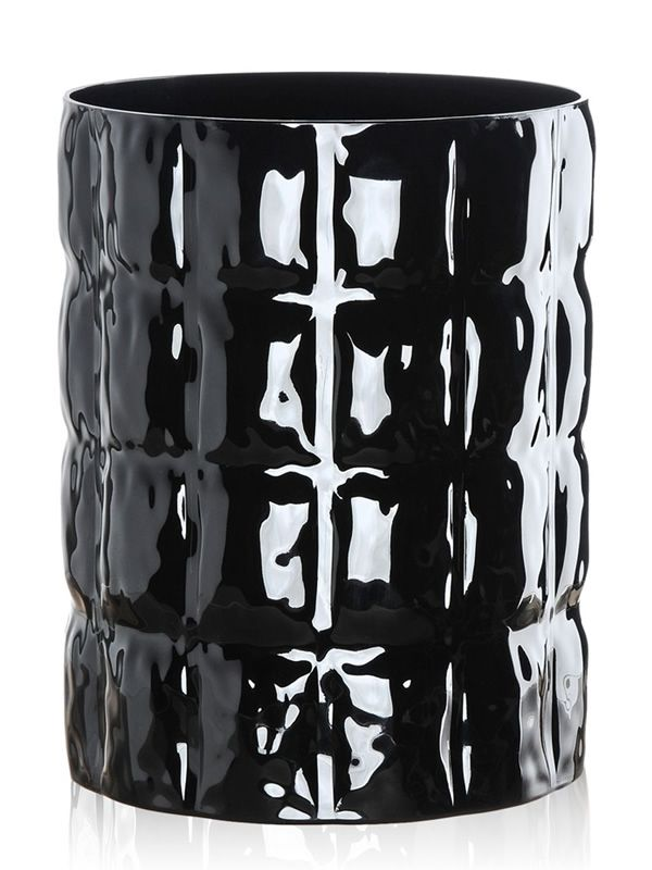 Kartell container vase in glossy black
