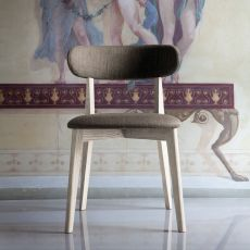 Anja - Domitalia wooden chair, padded seat and backrest