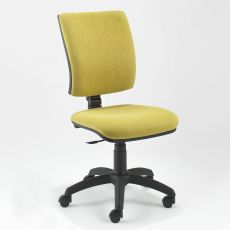 ML334 - Task chair for office, padded, with low backrest, available with different coverings