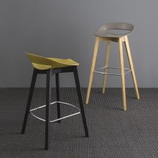 CB1939 Cosmopolitan - Connubia - Calligaris fixed stool made of wood and polypropylene, seat height 65 or 80 cm
