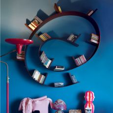 Bookworm-Popworm - Kartell design bookcase, in PVC, different shapes