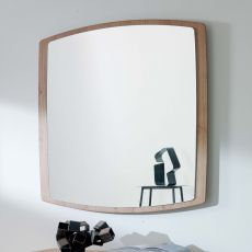 Boat - Modern mirror with MDF frame, square 90x90cm