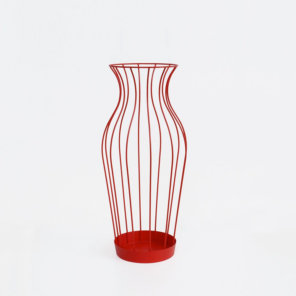 Red umbrella stands