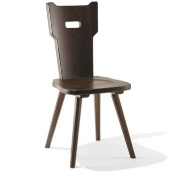 TC01 - Wooden chair, walnut color