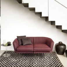 Betty - Design sofa Kartell, 2 and 3 seating, with metal frame, with fabric upholstery