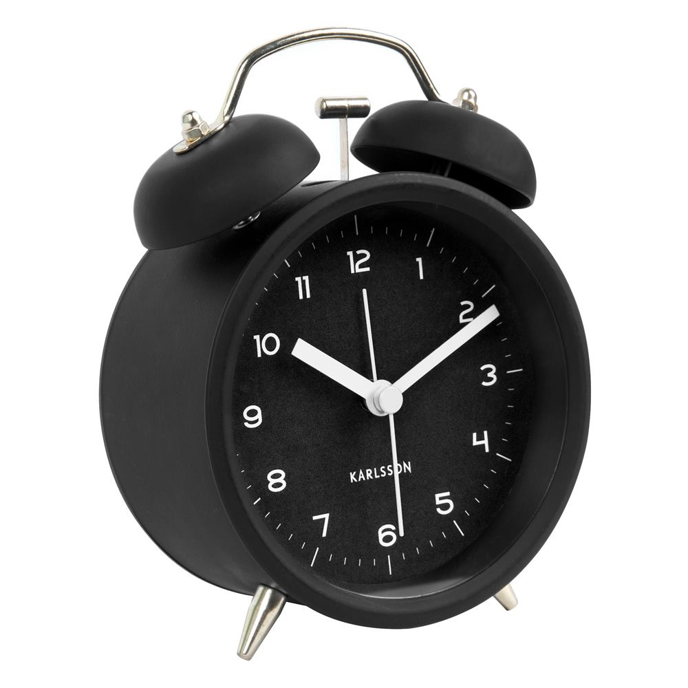 Metal alarm clock, with clock hands