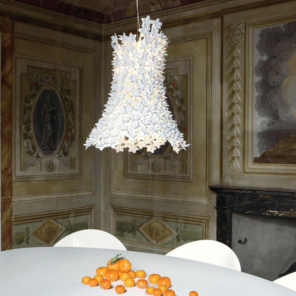 Kartell suspension ceiling lamp, in white colour