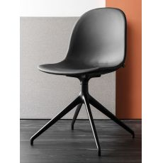 CB1694 360 Academy - Swivel chair, made of aluminium, polypropylene, wood or imitation leather seat, different colours available