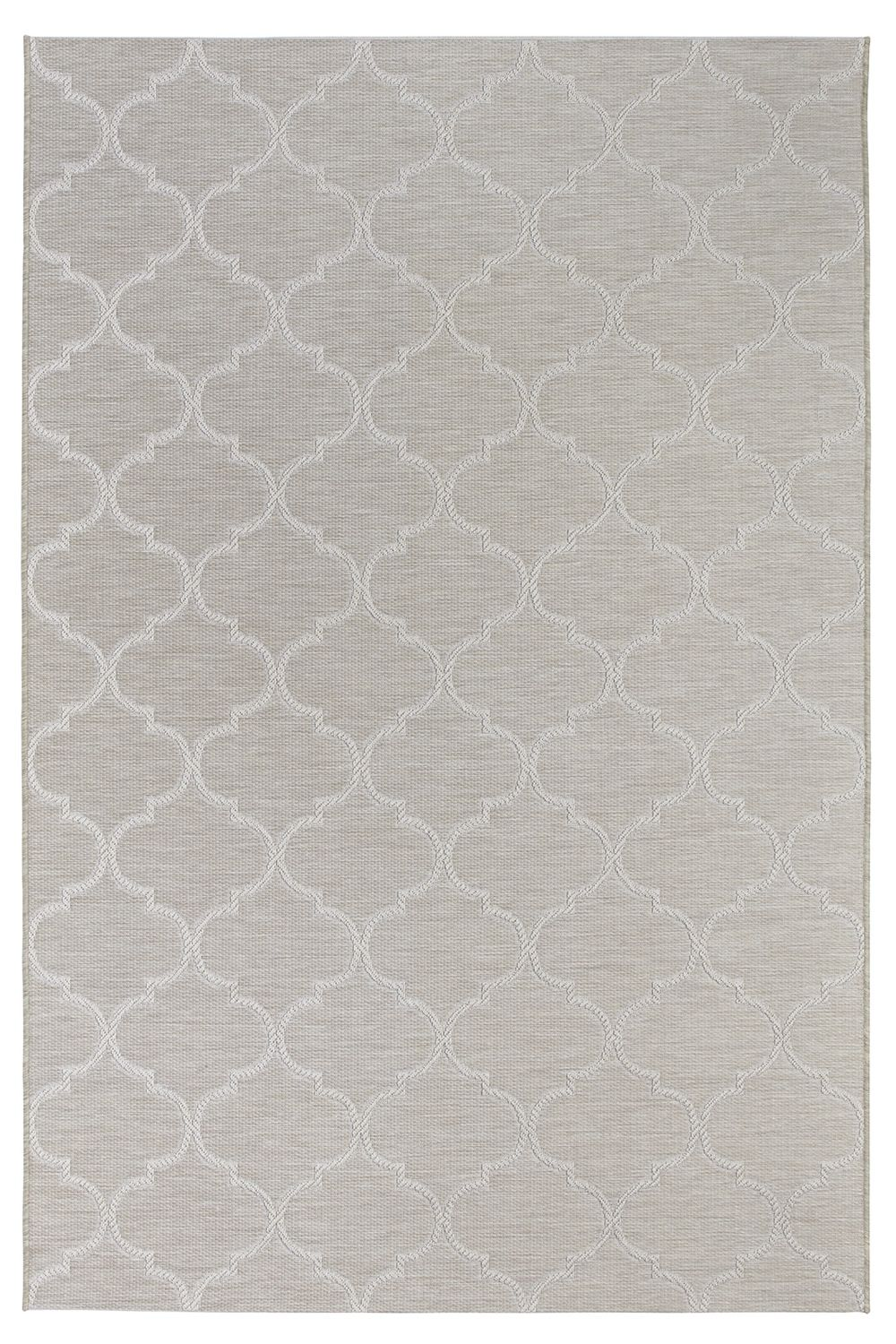 Outdoor rug, in cream white colour