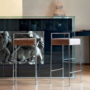 Mark H - Metal stools, different upholsteries and colors available