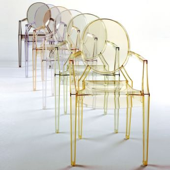 Louis Ghost - Louis Ghost Chair by Kartell - polycarbonate