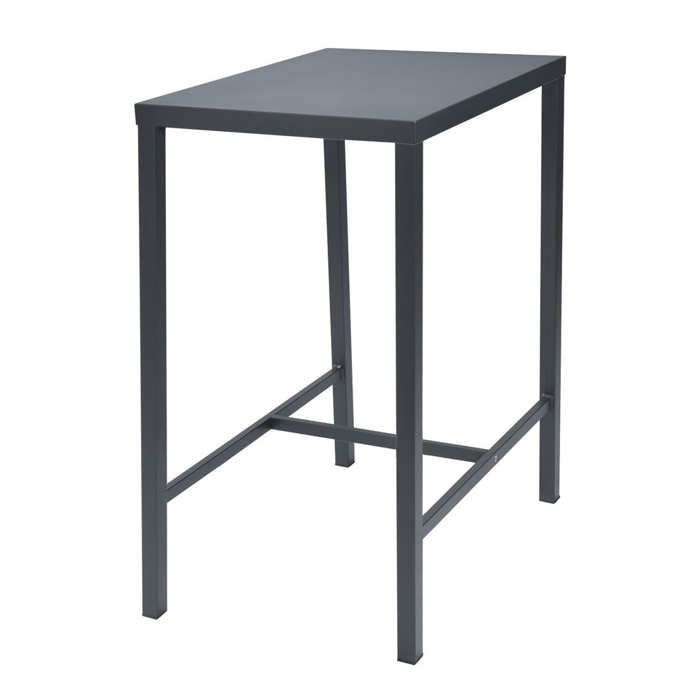 High metal table, anthracite grey colour, for outdoor (size: 60 x 80 cm)