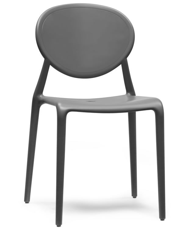 Modern chair in anthracite grey colour