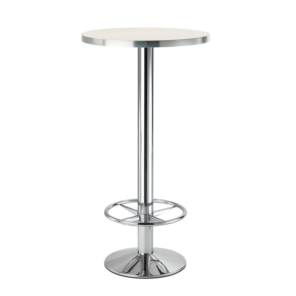 High table base for bar, with footrest