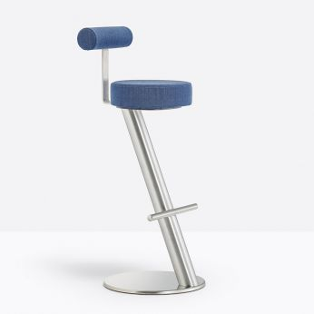 ZX 4478 - Bar stool in metal, with fabric seat