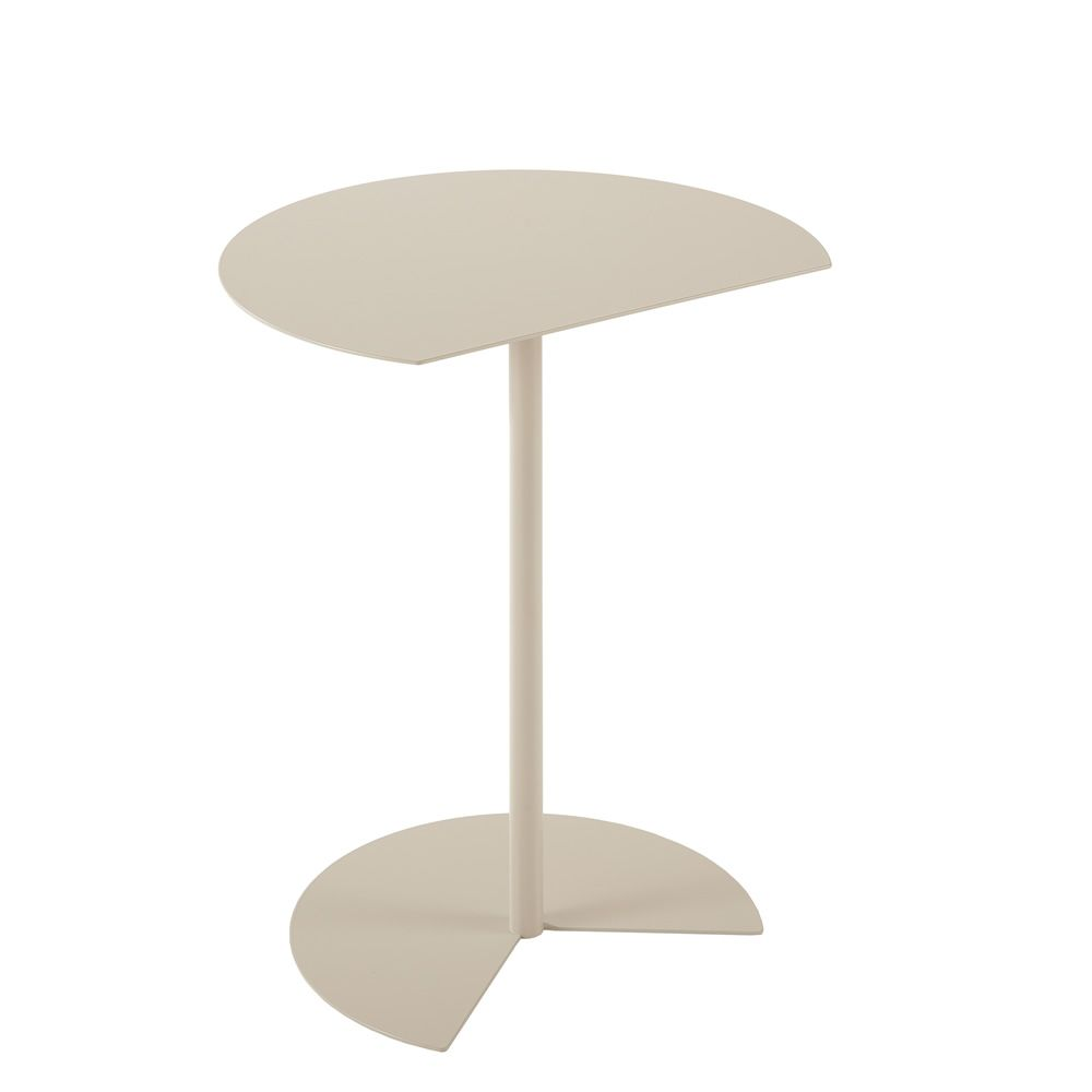 Light grey round small table