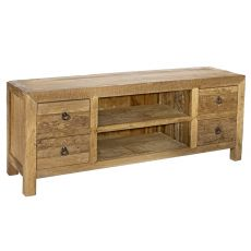 Belice - TV stand in recycled teak, 150x40 cm, h. 60 cm