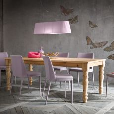 Adriano - Shabby chic wooden table, fixed, available in different dimensions