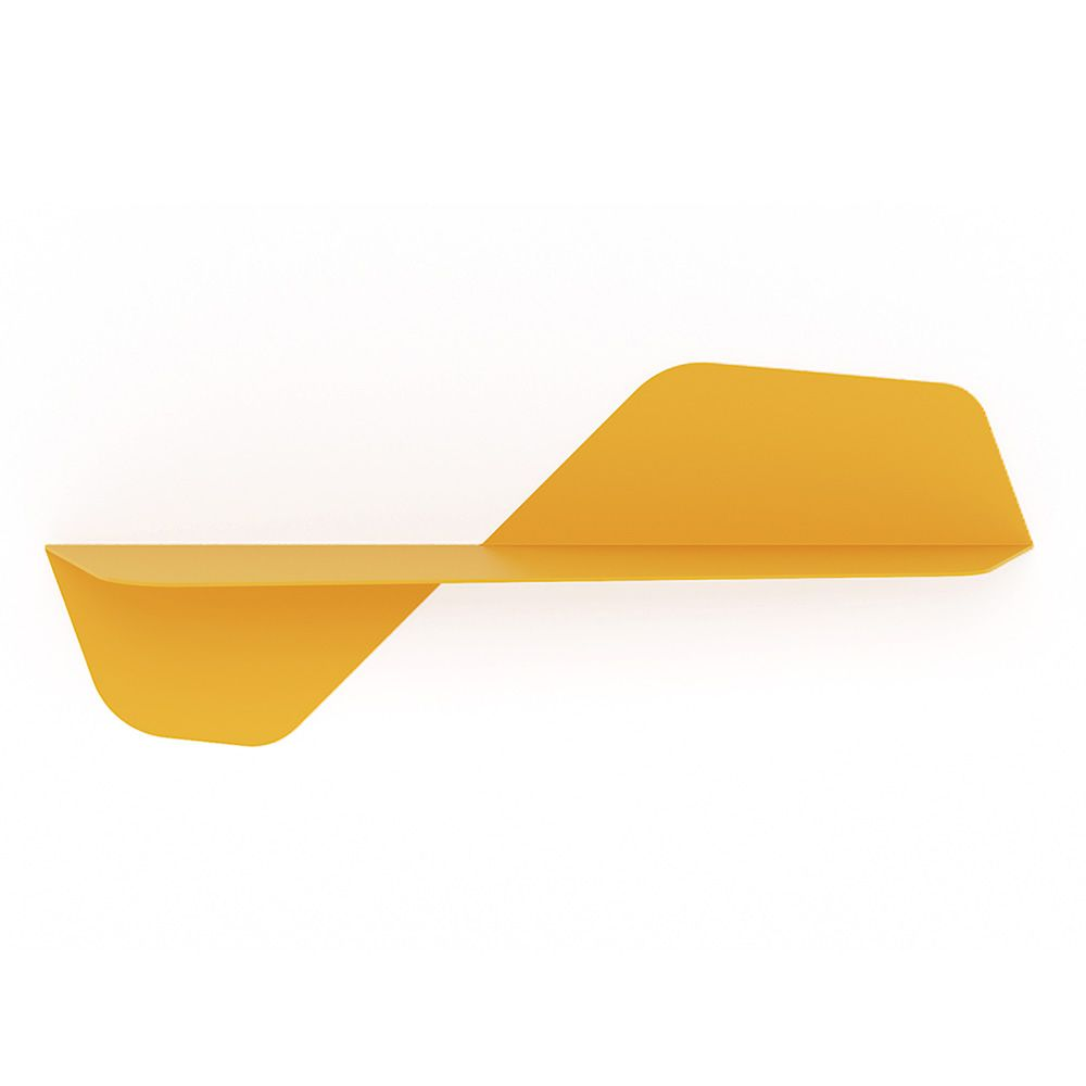 Metal shelf, colour yellow, L model