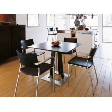 Sella - Design wooden table by Tonon, in several colours and sizes