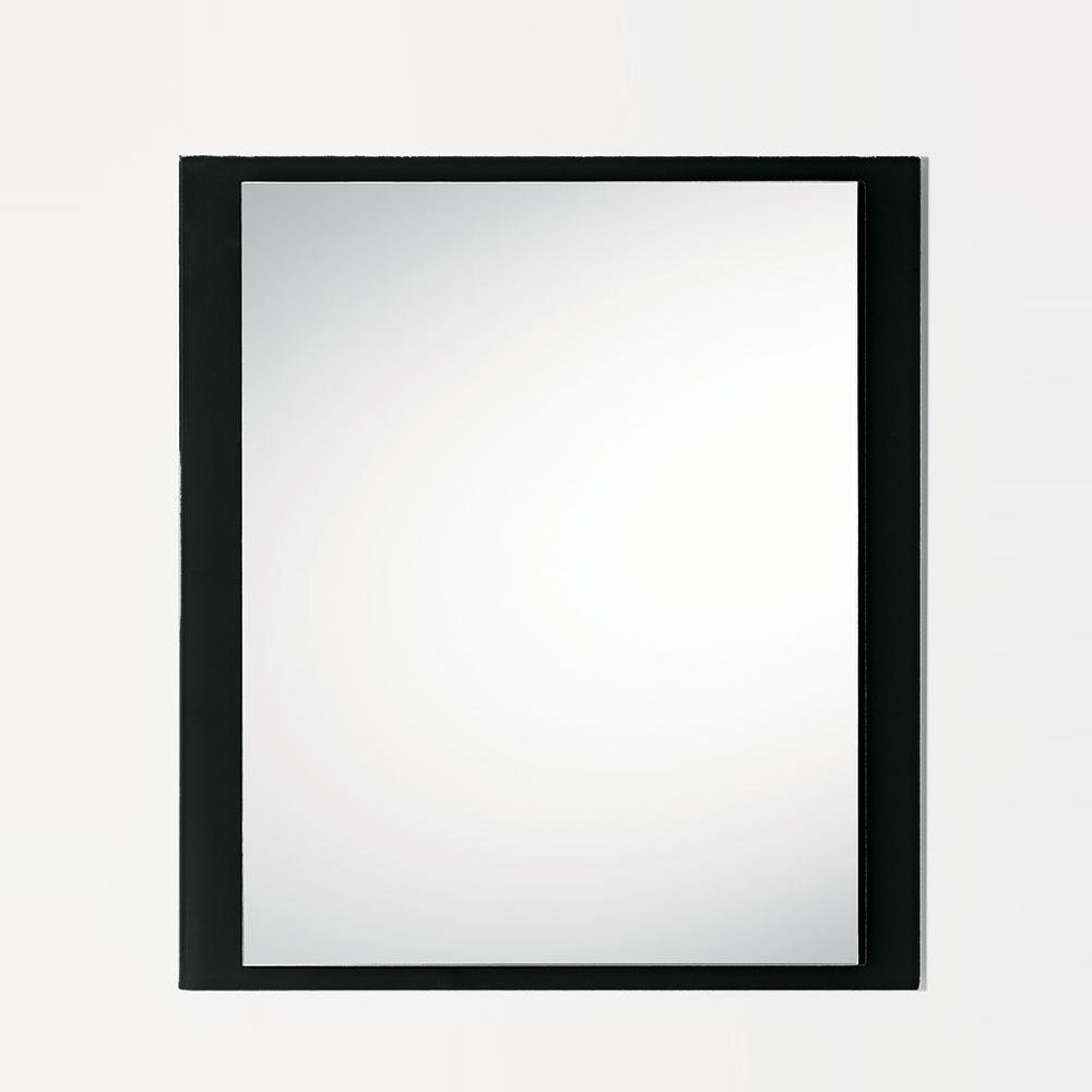 Mirror with balck glass frame