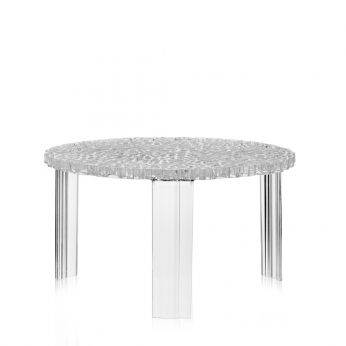 T-Table - Kartell coffee table, transparent, low