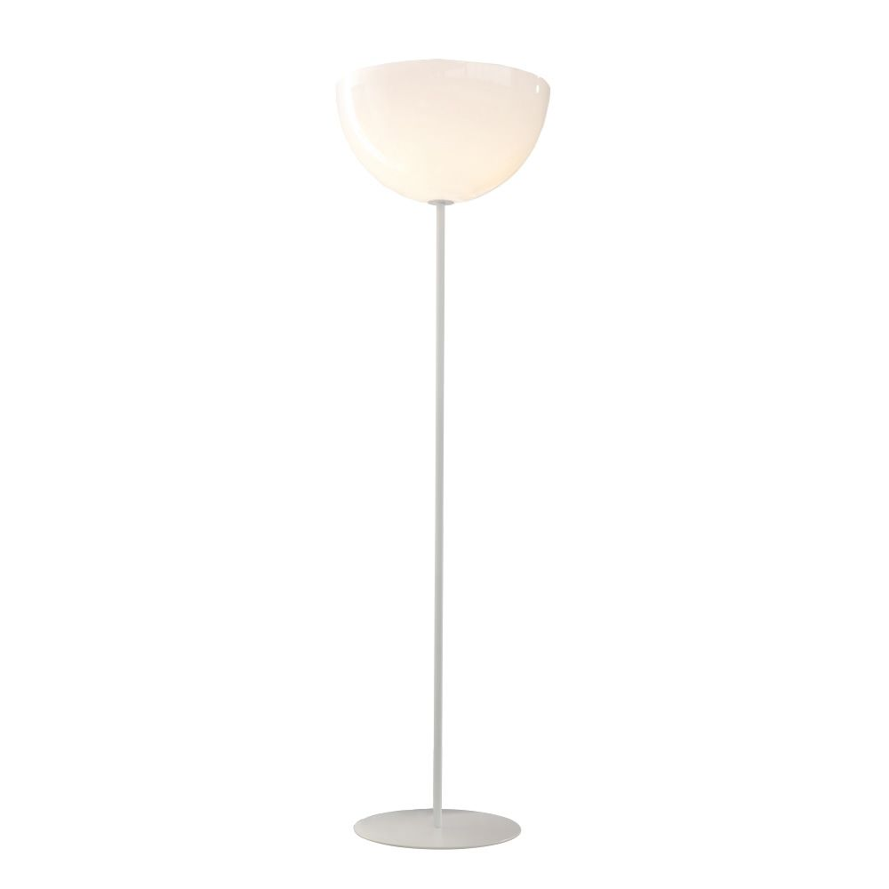 Floor lamp in metal with methacrylate diffuser, white colour