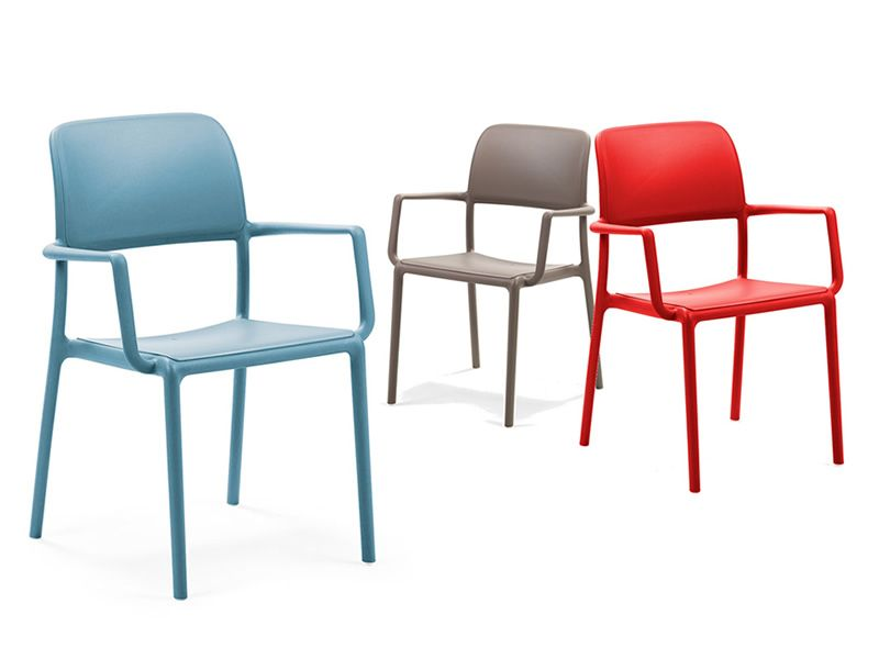 Garden armchairs, in several colours