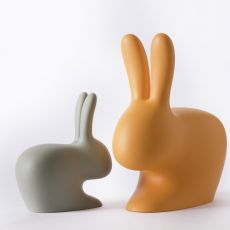 Rabbit Chair - Qeeboo rabbit-shaped chair, in polyehtylene, also for the garden