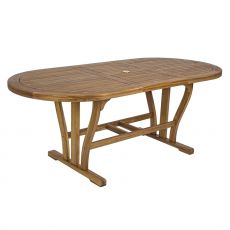 Catalina T - Extendable table in acacia wood, available in several sizes, for outdoor