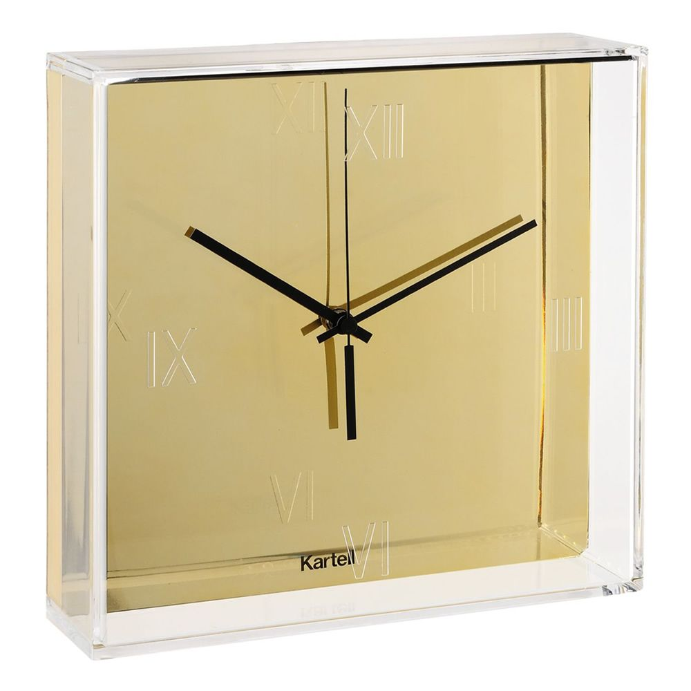 Kartell clock in gold colour