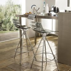 CB1269 L'Eau - Connubia - Calligaris stool, in metal and SAN, different colours available, seat height 65 cm