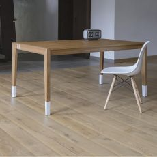 Tavolo 01 - Extendable table in oak wood, 160x90 cm top