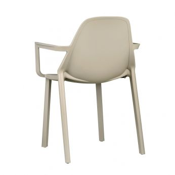 Più P 2335 - Garden armchairs, in dove grey colour