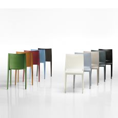 Nassau - Design chair in polypropylene, stackable, available in several colours, also for outdoor