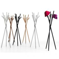 Stick - Valsecchi design coat hanger made of wood, different finishes available