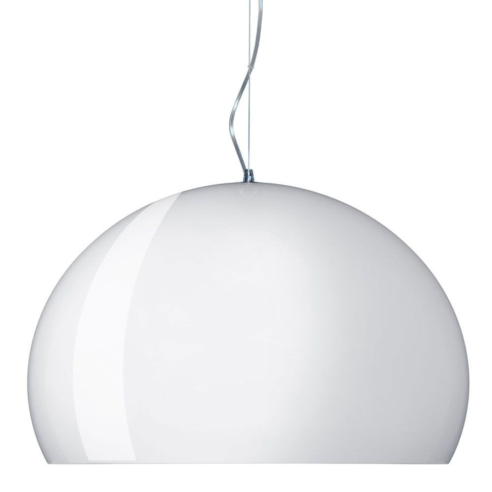 Design Kartell suspension lamp, glossy white colour