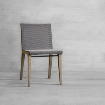 Mesh Me - Oak wooden chair, with net seat