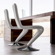 F12 - Midj swivel chair, seat covered with leather, imitation leather or fabric
