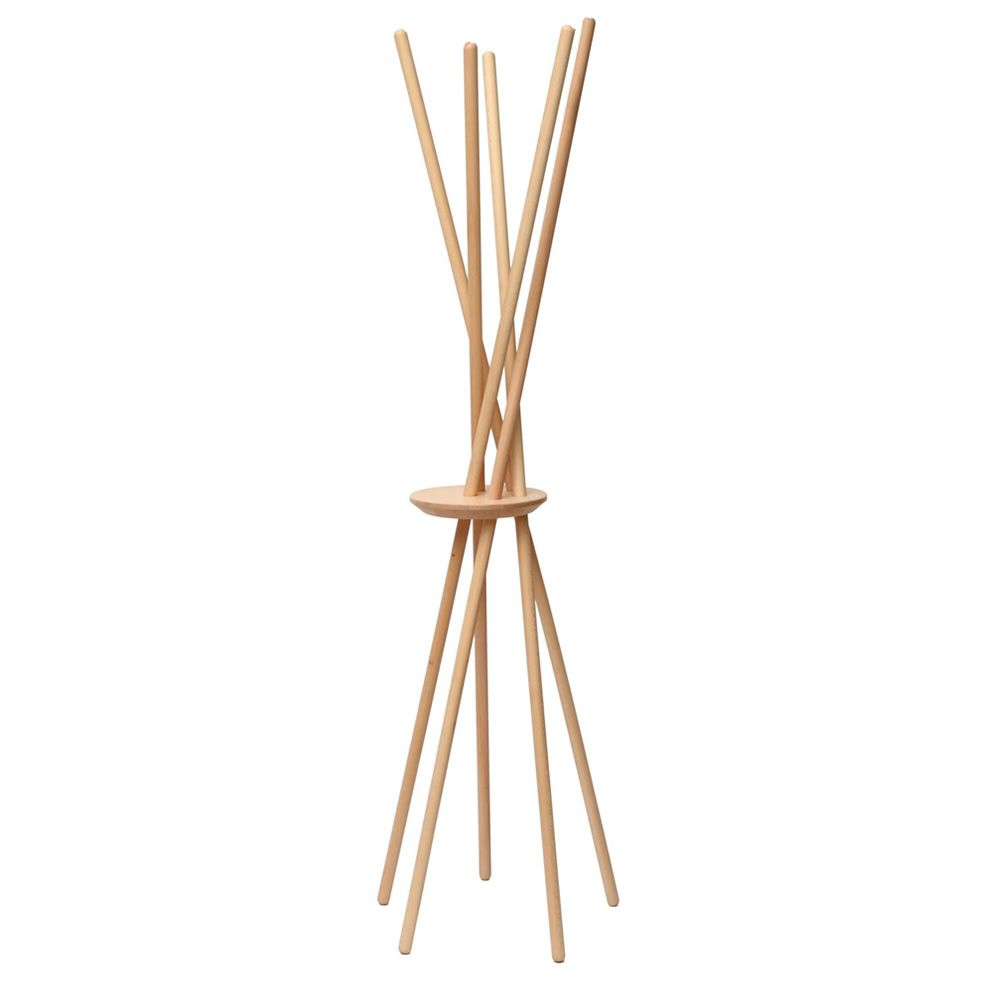 Coat hanger in solid beech wood