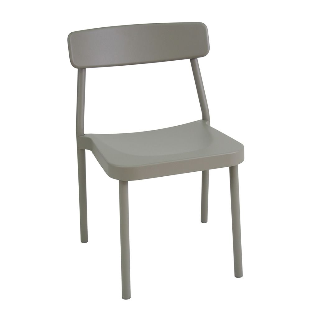 Stackable chair in grey colour