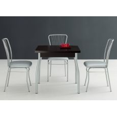 Kendo 80 - Domitalia metal table, melamine top, 80 x 80 cm extensible