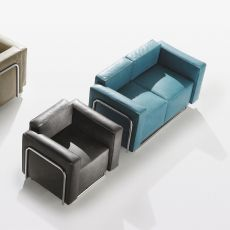 Cocktail 2P - Design 2 seater Sofa with metal structure, available in different finishes