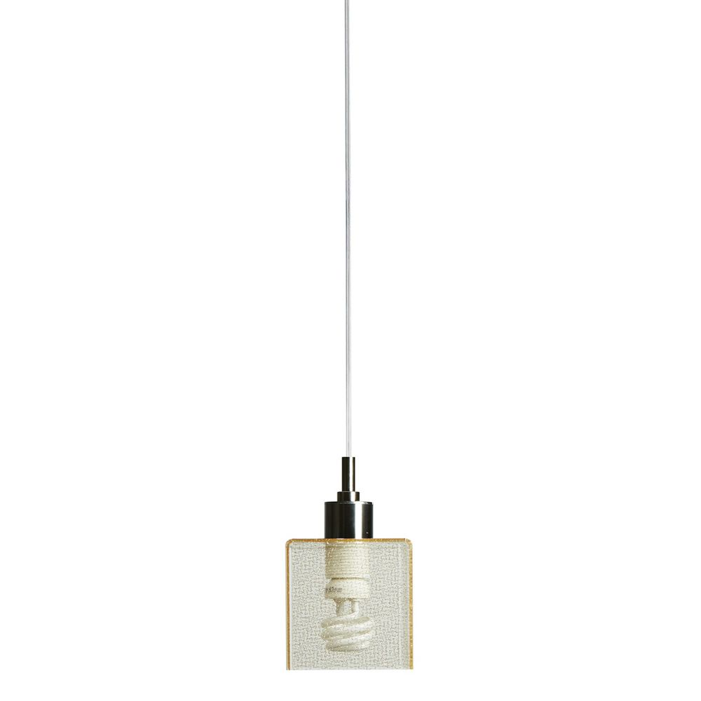 Suspension lamp with metacrylate lampshade, texturgold version