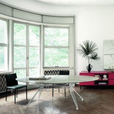 Sander - Design table Bontempi Casa, in metal with 250x116 cm top, available in several finishes