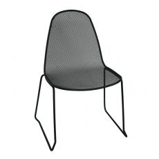RIG16 - Bar chair in metal, stackable, for outdoor