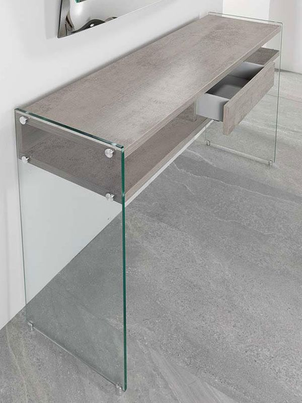 Cement laminated console table