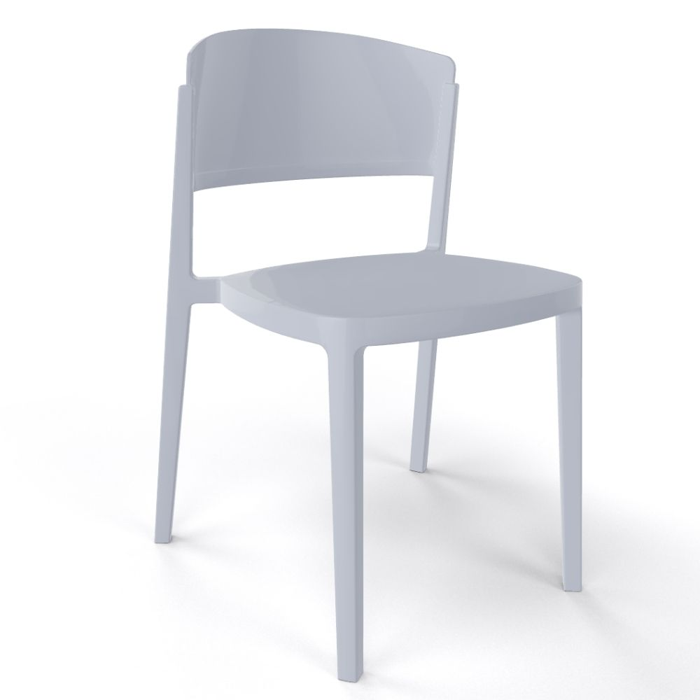 Modern chair in technopolymer, stackable, also suitable for outdoor