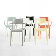 Generic A - Kartell design chair, in polyproylene, stackable, also for garden