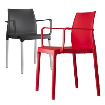 Chloè P 2637 - Chair with aluminum or polymer legs